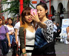`1407 (roll the dice) Tags: china camera uk girls portrait england people urban hot colour sexy london art classic westminster weather fashion shopping asian funny couple pretty sad natural candid soho fingers chinese strangers streetphotography sunny tourists mad w1 westend odds selfie betfred