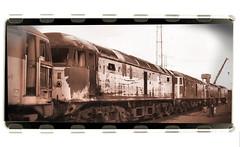 Tinsley Scrapline #1 (R~P~M) Tags: uk greatbritain england train diesel unitedkingdom yorkshire railway locomotive scrap britishrail 47 yorks tinsley sheffirld