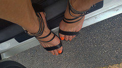 Jancyn (IPMT) Tags: orange west sexy feet tangerine foot high perfect toes soft painted nine 9 polish heels pedicure naranja sandal toenails toenail anaranjado pedi jancyn