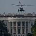 HMX-1 Helicopter making practice landings at the White House on 8/11/2015