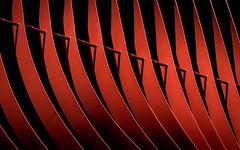 Folds (campra) Tags: japan aomori 青森市 nebuta house warasse facade metal strips red architecture