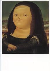 Fernando Botero (Manitoba Museum of Finds Art) Tags: monalisa postcard botero