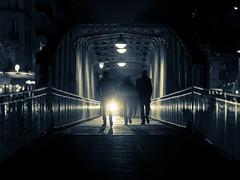 Paris NewYork style ;-) (Paris - France) (william 73) Tags: nuit paris france zuiko olympus 75mm f18 passerelle streetphotography omd em10 mk2 monochrome