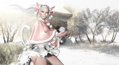 Play With Snow (Alisa Perne) Tags: alisa26 alisaperne sl secondlife slfashionartphotography avatar winter tentacio tableauvivant glamaffair kawaii