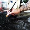Background done ... deep in the forest (Magnus Dacke) Tags: magnus dacke 2017 mad madart målning måla painting background bakrund art konst konstnär artist acrylic akryl sweden symbolic symbolisk black white brush hand hässleholm