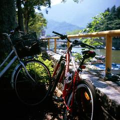 梅窩 (Steve only) Tags: rolleiflex standard model 621 carl zeiss jena 135 75cm 7535 75mm f35 noncoatedlens 白鏡 tlr fujifilm fujichrome velvia 100 rvp100 6x6 120 mediumformat epson gtx970 v750 film bicycle snaps island 梅窩