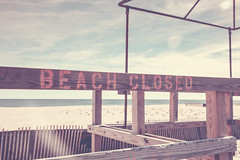 Beach Closed (Erin Cadigan Photography) Tags: purple beach closed winter sign point pleasant nj new jersey