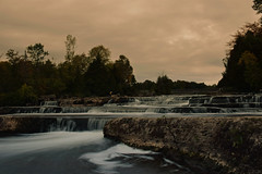 Calm before the storm (spencerwalton) Tags: fall september nature trees water waterfall waterfalls sauble falls sun rain wind clouds contrast landscape colour ontario southern tripod rocky slippery wet