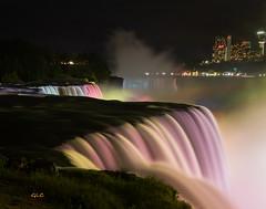 American Falls (Gary :^)) Tags: sparky1163 niagarafalls glc night rainbow american falls canada