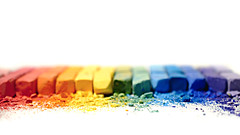 untitled (brescia, italy) (bloodybee) Tags: 365project chalk rainbow colors white stilllife powder macro