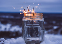 ~When New-Year speeds its wintry blast... (Fire Fighter's Wife) Tags: cyrilscott poems newyear happynewyear happyholidays holidays fireworks sparklers sparkler sparkle shine nightlights nightcolors night midnight horizon mountain jar nikon mutedcolors muted mutedhues faded fadedcolors soft softcolors softhues softpastels softhaze haze hazy fire poem january cold brrr winter winterwonderland snow snowy snowfall nikond750 50mm stilllife vintage vintageprocessing retro retroprocessing dreams dreamer dreaming inspirational inspired inspiring sparkling flickrfriday happyflickrfriday