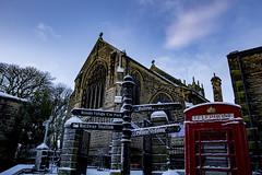 Haworth Church (jackharrybill) Tags: haworth snow church stmichaelandallangels