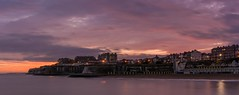 Broadstairs delight (James Waghorn) Tags: nikkor35mmf18 broadstairs d7100 water winter longexposure clouds panorama kent harbour sea sunset england nikon smooth magenta pink