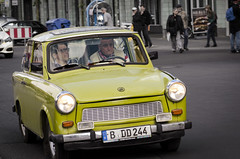 Trabbi (Alexander JE Bradley) Tags: 80200mmf28 d7000 nikkor nikon germany deutschland berlin city street trabant eastgermancar ddrcar trabant11 trabi trabbi de