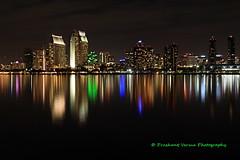 IMG_9751 (PrashantVerma) Tags: san diego skyline california coronado night long exposure reflection downtown buildings