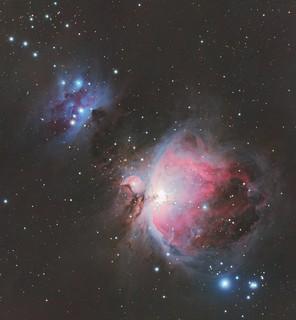 M42 - Orionnebula and Running Man Nebula