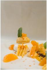 La clémentine meringué (florian.jacquelin) Tags: cuisine food chef table gastro gastronomique prieuré azé guignard mayenne châteaugontier clémentine meringue frais chocolat blanc