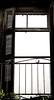 What's inside the building...<ruined> (kallchar) Tags: window door air sky ruin building old dark time ruined olympusomdem10 flickr wood metal rails balcony railing agreatcapture skyline olympus