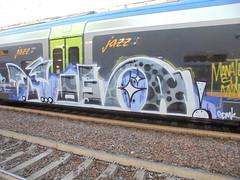 manate su manate (en-ri) Tags: yoga gdmk pevs crew grigio lilla bianco train torino graffiti writing