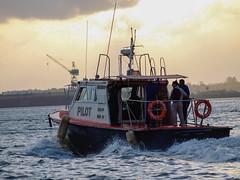 al_trabajo (glezygber) Tags: puerto bote boat barco bahia piloto trabajo mar marinero