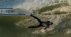 Backwards Anatomy of a Wipeout (1 of 4) (cetch1) Tags: surfing waveporn ocean northerncaliforniasurfing rodeobeach water wipeout surf bigwave surfboard cron surfer beach