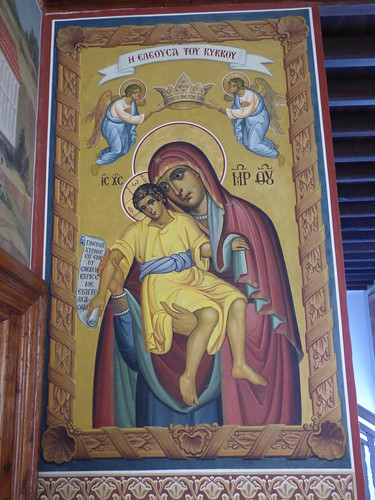 Kykkos Monastery, mosaic of the icon of the BVM, painted by St Luke