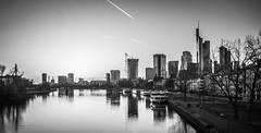 Frankfurt Skyline (Marcnifico) Tags: frankfurt frankfurtskyline main skyline commerzbank tower winx river ffm frankfurtammain schwarzweis skyscraper