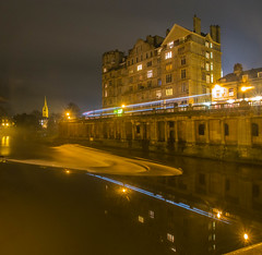 The Blue Reflection (RS400) Tags: bath southwest night time reflection reflections long exposure slow shutter speed olympus buildings water uk landscape cool wow amazing wicked river lights