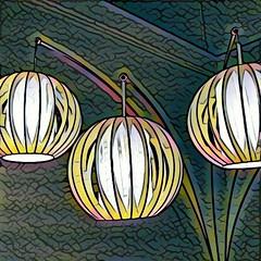 Three Lamps (Thad Zajdowicz) Tags: lamps photomanipulation prisma zajdowicz pasadena california indoor inside cellphone motorola droid turbo smartphone cameraphone mobile android abstract