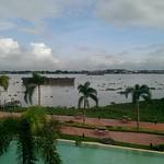 Blick von der Island Lodge auf dem Mekong
