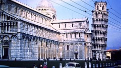 Leaning Tower of Pisa, Italy (1958) (David McKelvey) Tags: italy pisa leaningtower 35mmslide