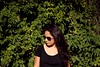 sister (Naomi Fuentes) Tags: summer portrait green girl leaves sunglasses canon hair photoshoot naturallight photograpy