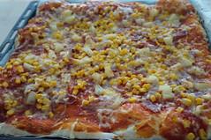 DSC08141 (Kirayuzu) Tags: bacon pizza mais ananas käse tomate selbstgemacht speck tomatensauce tomatensose