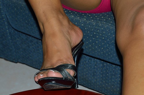 High arched ebony feet