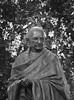 gandhi (EFR photography) Tags: park india white black london westminster leaves statue vintage person famous retro gandi mahatma karamchand
