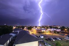 Lightning over Stillwater, Oklahoma (Kurt Steiss) Tags: storm oklahoma rain thunderstorm lightning stillwateroklahoma oklahomastateuniversity oklahomaweather
