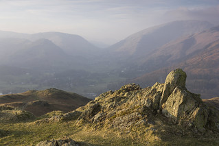 Grasmere from Loughrigg Fell, Lake District National Park, Cumbria, UK
