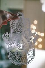 (photos_by_clara) Tags: eye film paper paperart design hand pentax k1000 bokeh palm third henna papercutting