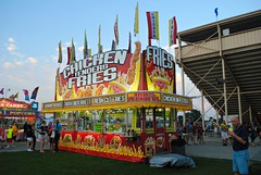Walworth County Fair 2015 (Cragin Spring) Tags: food usa wisconsin rural midwest unitedstates dusk unitedstatesofamerica fair fries countyfair wi elkhorn foodstand concession chickentenders southernwisconsin walworthcountyfair elkhornwi walworthcounty elkhornwisconsin