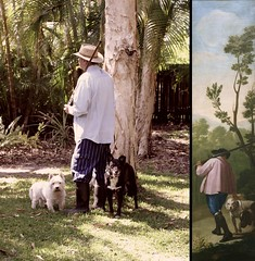38/52 Hunter and his dogs 2015/Cazador con sus perros 1775 (Gillian Everett) Tags: man dogs style aged oldmaster 52 2015 week38