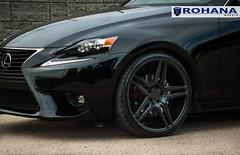 Lexus IS250 - RC8 Matte Black (3) (Rohana Wheels) Tags: wheels toyota rims concave lexus trd luxurycar rohana is250 lexusis250 rc8 luxurywheels fsport rcseries rohanawheels