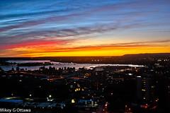 Ottawa River Sunset - Ottawa 10 15 (Mikey G Ottawa) Tags: sunset red sky orange ontario canada color colour night landscape iso800 ottawa magenta couleur edit ottawariver farben lightroom edgefilter rby mikeygottawa