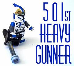 501st Heavy Gunner (OB1 KnoB) Tags: trooper st soldier star lego fig mini clones figure 501st wars minifig custom figurine clone heavy gunner legion 501 minifigure theclonewars minifigurine