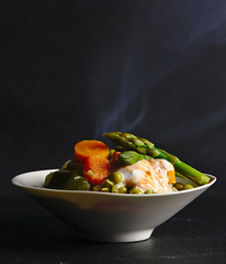 Menestra de verduras con salsa de requeixo e harissa (Receitasparatodososdias) Tags: vegetables cheese dinner lunch harissa