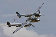 Lockheed P-38L Lightning - 20 (NickJ 1972) Tags: aviation airshow duxford lightning lockheed 13 redbull iwm p38 2015 flyinglegends n25y