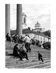 Afternoon relax on the Gran Madre's staircase (kingappia87) Tags: people blackandwhite church torino blackwhite pentax chiesa piemonte staircase turin piedmont bianconero biancoenero granmadre scalinata cappuccini pentaxart smcpda1855mmf3556alwr k3ii