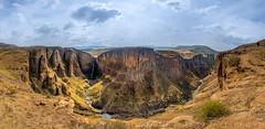Maletsunyane Falls - Lesotho (lucien_photography) Tags: africa panorama nature clouds landscape waterfall horsetail lesotho afrique maseru semonkong kingdomoflesotho maletsunyane placeofsmoke metefeng
