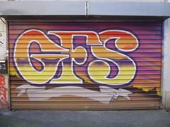 GFS  Montreuil (inachev ?) (Archi & Philou) Tags: streetart graffiti shutter unknown montreuil sef gfs calligraphie inconnu lettrage rideaumtallique