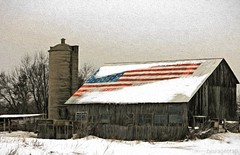 2008 Flag Barn Redux (newagecrap) Tags: wisconsin barn rural brighton farm rustic barns scenic farms hdr badgerstate farmbuildings southeasternwisconsin rusticbarn farmscene ruralfarm canoneosrebelxti ruralbarns rusticbarns kenoshacountywisconsin winter2008 ruralbarn wisconsinbarns wisconsinbarn scenicfarm scenicbarn newagecrapphotography topazimpression