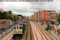 A recoger la paraeta... (Adrin Valencia Martnez) Tags: tractor nublado 310 renfe adif alfafar herbicida azvi